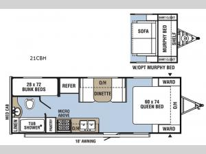 Clipper Cadet 21CBH Floorplan Image