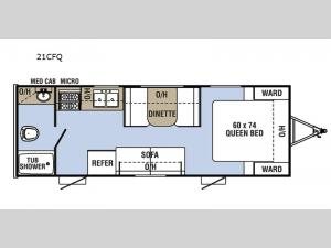 Clipper Cadet 21CFQ Floorplan Image