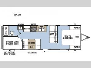 Clipper Cadet 26CBH Floorplan Image
