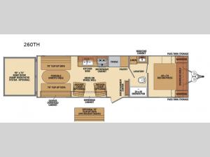 Shasta 260TH Floorplan Image