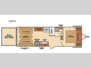 Shasta 240TH Floorplan Image