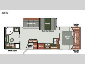Kingsport Ranch 28CRB Floorplan Image