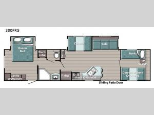 Kingsport 380FRS SE Series Floorplan Image