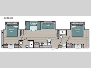 Kingsport 33DBDB SE Series Floorplan Image