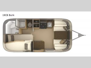 Flying Cloud 19CB Bunk Floorplan Image