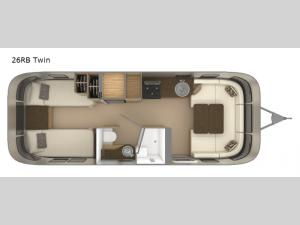 Flying Cloud 26RB Twin Floorplan Image