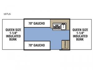 Clipper Camping Trailers 107LS Floorplan Image