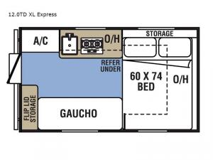 Clipper Camping Trailers 12.0TD XL Express Floorplan Image