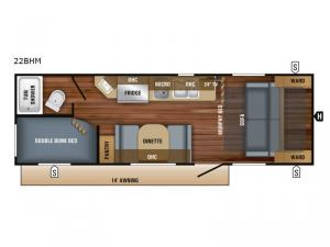 Jay Feather 7 22BHM Floorplan Image