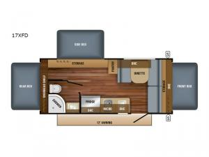 Jay Feather 7 17XFD Floorplan Image