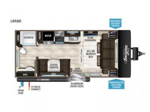 Imagine XLS 18RBE Floorplan Image
