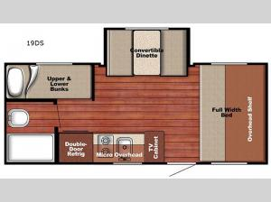 Capri 19DS Floorplan Image