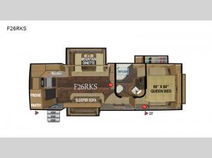 Glacier Peak Mountain Series F26RKS Floorplan Image