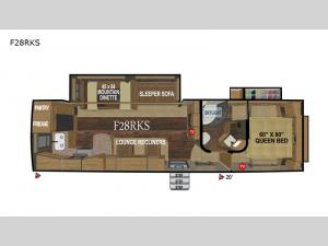 Glacier Peak Mountain Series F28RKS Floorplan Image