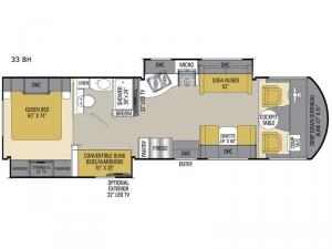 Pursuit 33 BH Floorplan Image