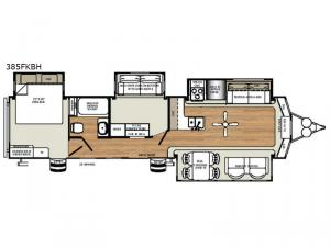 Sierra Destination Trailers 385FKBH Floorplan Image