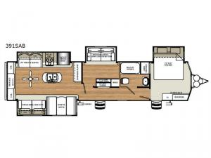 Sierra Destination Trailers 391SAB Floorplan Image