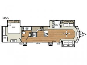 Sierra Destination Trailers 393CK Floorplan Image