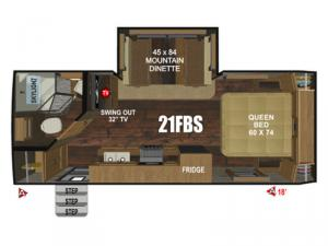 Back Country Series MTN TRX 21FBS Floorplan Image