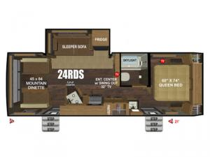 Back Country Series MTN TRX 24RDS Floorplan Image