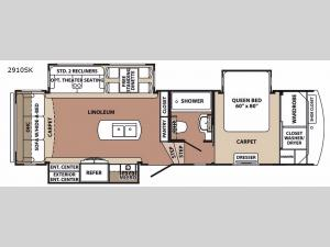 Blue Ridge 2910SK Floorplan Image