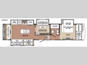 Blue Ridge 3780LF Floorplan Image