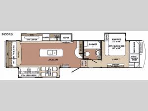 Blue Ridge 3655RS Floorplan Image
