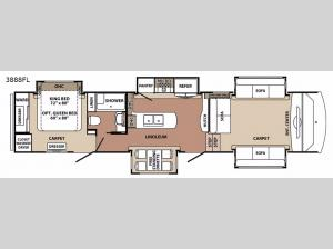 Blue Ridge 3888FL Floorplan Image