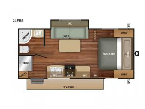 Launch Outfitter 21FBS Floorplan Image