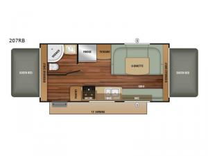 Launch Outfitter 207RB Floorplan Image