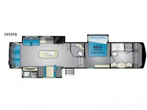 Big Country 3955 FB Floorplan Image