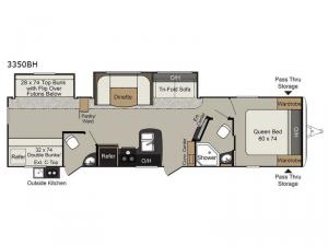 Passport 3350BH Grand Touring Floorplan Image