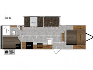 Tracer Breeze 26DBS Floorplan Image