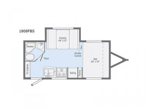 Micro Minnie 1808FBS Floorplan Image