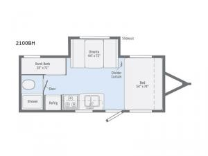 Micro Minnie 2100BH Floorplan Image
