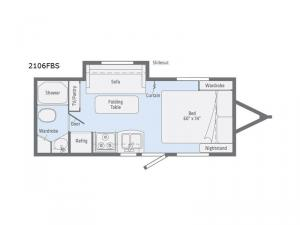Micro Minnie 2106FBS Floorplan Image