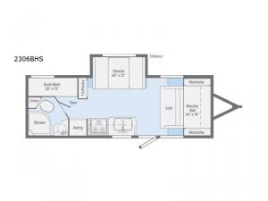 Micro Minnie 2306BHS Floorplan Image