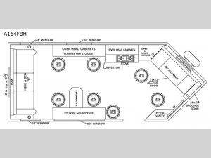 Glacier Ice House A164FBH Floorplan Image