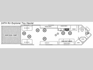 Glacier Ice House 24TH RV Explorer Toy Hauler Floorplan Image