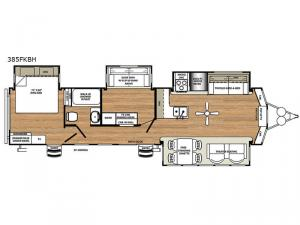 Sandpiper Destination Trailers 385FKBH Floorplan Image