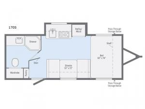 Minnie Drop 170S Floorplan Image