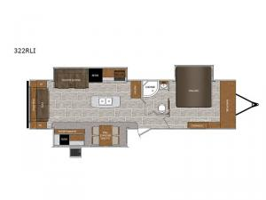Wildcat 322RLI Floorplan Image