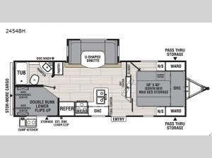 Northern Spirit Ultra Lite 2454BH Floorplan Image