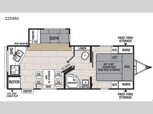 Northern Spirit Ultra Lite 2255RK Floorplan Image