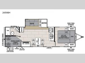 Northern Spirit Ultra Lite 2659BH Floorplan Image