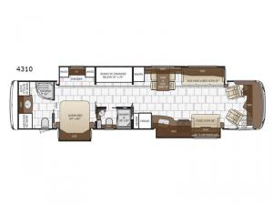 Dutch Star 4310 Floorplan Image