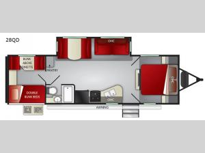 Fun Finder XTREME LITE 28QD Floorplan Image