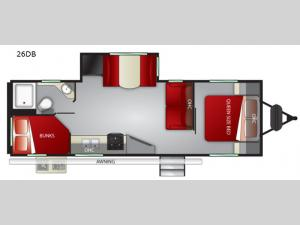 Fun Finder XTREME LITE 26DB Floorplan Image