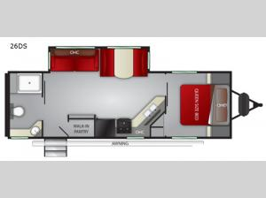 Fun Finder XTREME LITE 26DS Floorplan Image