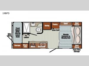 Vintage Friendship 19BFD Floorplan Image